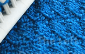 Learn To Loom Knit The Stylish Diagonal Stitch