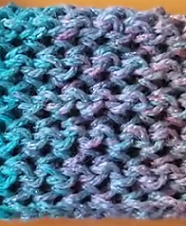 Loom Knit The Modified Fish Scale Stitch
