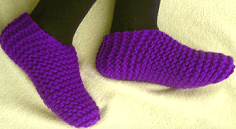 How To Loom Knit Toe-Up Slippers