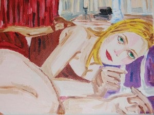 Virgin Suicides (Kirsten Dunst) painting