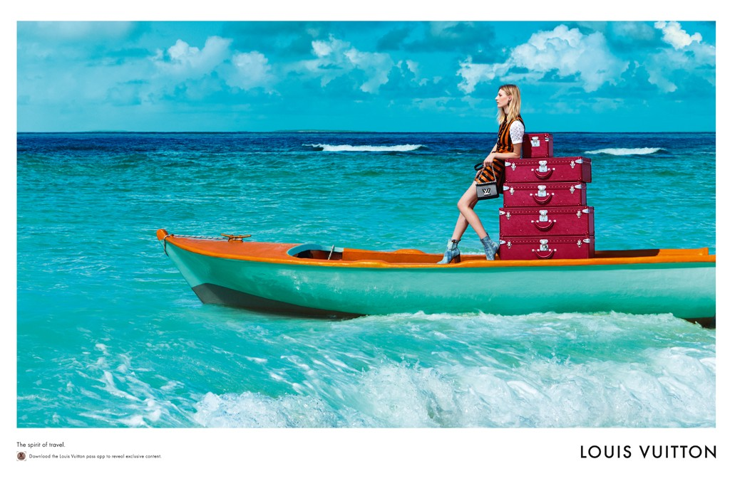 "Louis Vuitton Lost In Paradise ""Spirit Of Travel"" Ad Campaign"