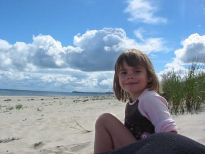 Anne am Strand