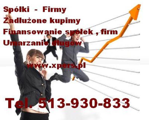 Spółkę Firmę zadłużoną kupię. Tel. 513-930-833
