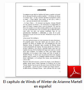 Capítulo de Arianne (Vientos de Invierno) en español