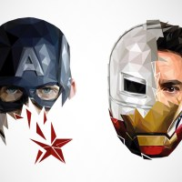 Geometric Refresh of Superheroes by Simon Delart