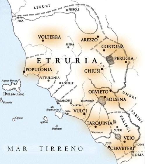 Mapa Etruria