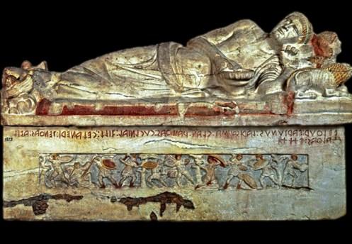 Museo Tarquinia - Sarcófago del Magnate