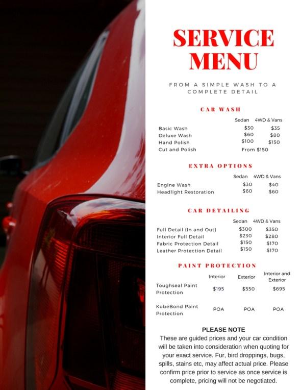services menu