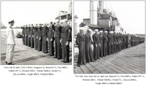 USS EAGLE 19 - awaiting Captain's Inspection - December 1944