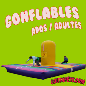 Gonflables d'animation ado / adultes