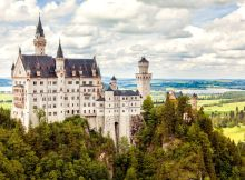 Neuschwanstein castle in Bavarian alps, Germany