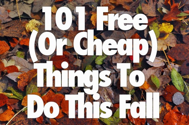 101 free or cheap things to do this fall