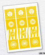 Sunshine Party Printables:: Party Tags by Love The Day