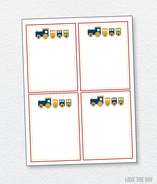 Train Party Printables:: Thank You Cards