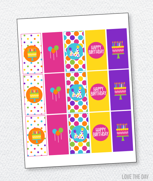 Pretty Polka Dot Party Printables:: Candy Bar Wrappers