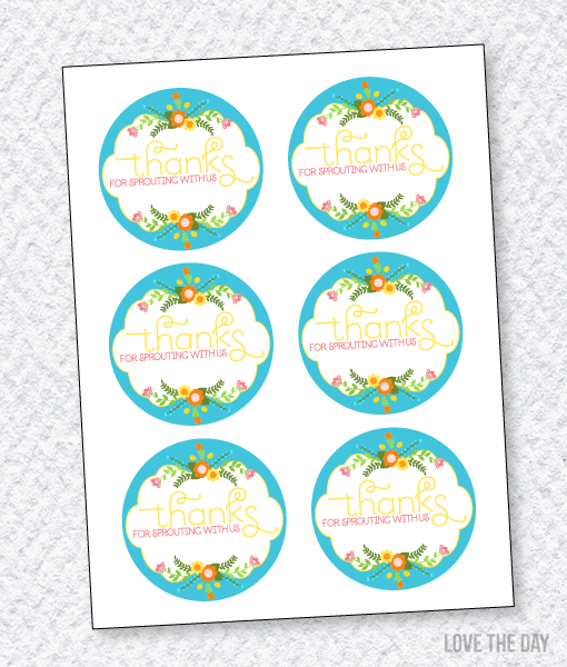 Garden Party Printables:: Favor Tags