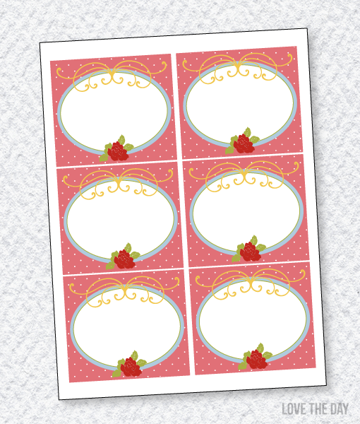 Butterfly Party PRINTABLES:: Blank Food/Name Labels