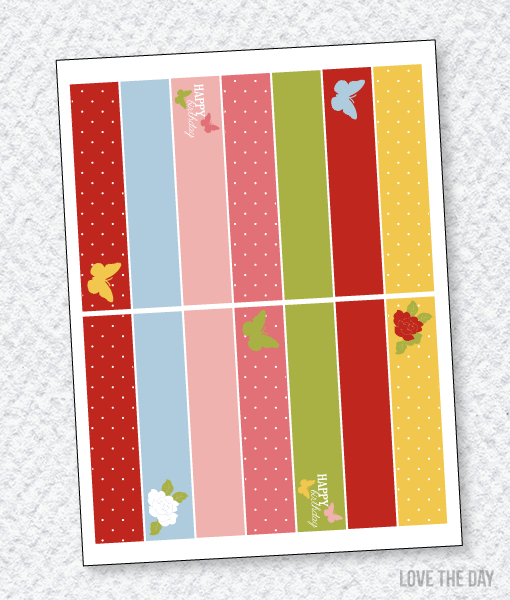 Butterfly Party PRINTABLES:: Party Flags