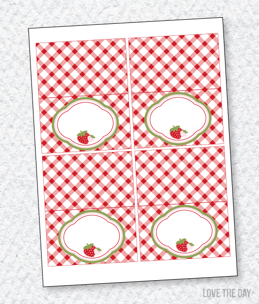 ... Strawberry Party PRINTABLES Blank Tent Cards  sc 1 st  Love The Day & Food Labels Archives - Love The Day
