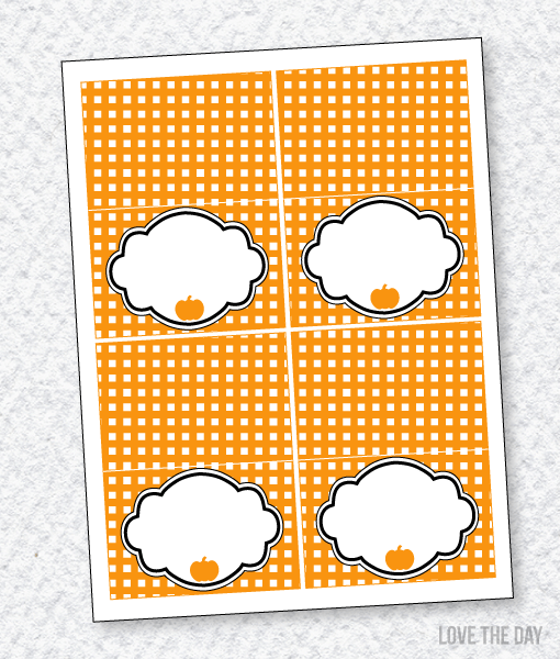 Black & Orange Halloween Party PRINTABLES:: Blank Tent Cards