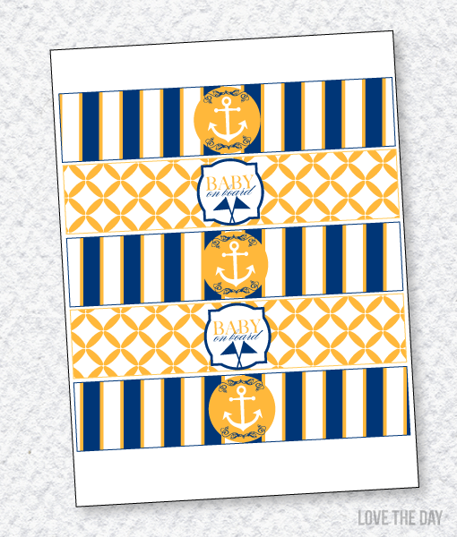 Nautical Baby Shower PRINTABLES:: Drink Labels