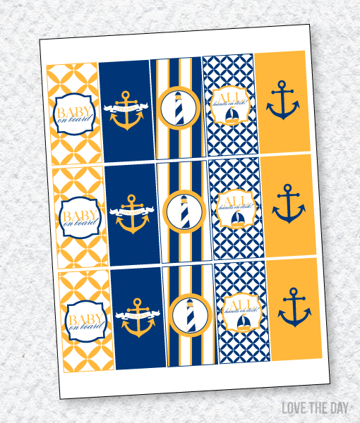 Nautical Baby Shower PRINTABLES:: Candy Bar Wrappers