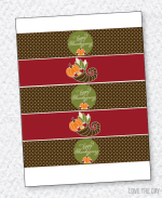 Cornucopia Thanksgiving Drink Labels