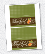 Cornucopia Thanksgiving Fold Over Tags