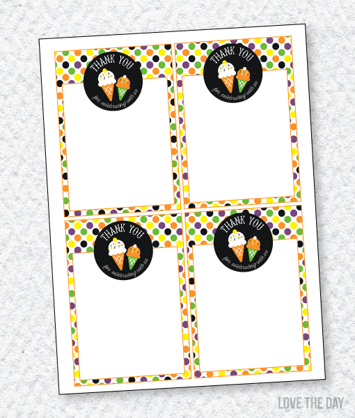 'I Scream, You Scream' Halloween Party:: Thank You Cards