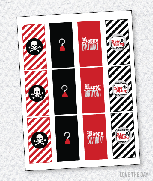 Pirate Party PRINTABLE: Candy Bar Wrappers
