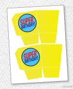 Superhero Party PRINTABLES: Favor Box
