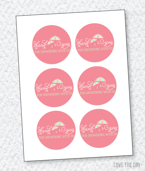Shower With Love Baby Shower PRINTABLES:: Favor Tags
