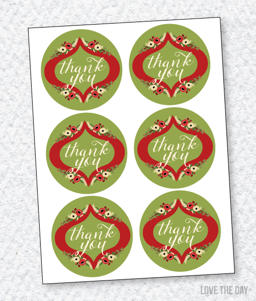 Floral Christmas Party:: Favor Tags