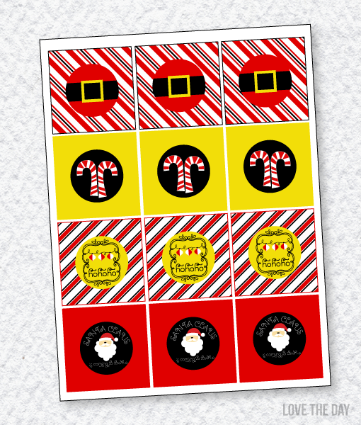 Santa's Sweets Party PRINTABLES:: Party Tags