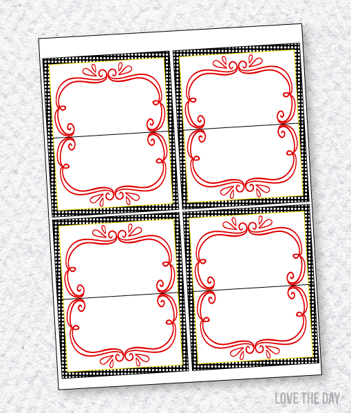 Santa's Sweets Party PRINTABLES:: Blank Food/Name Cards