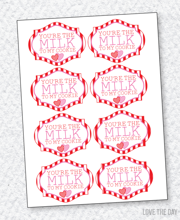 Milk & Cookie DIY Valentine PRINTABLE by Love The Day