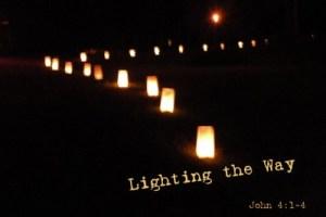 Lighting the way to the barn