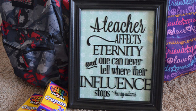 Teacher Appreciation Frame
