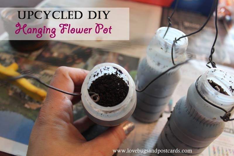 Upcycled DIY Hanging Flower Pot