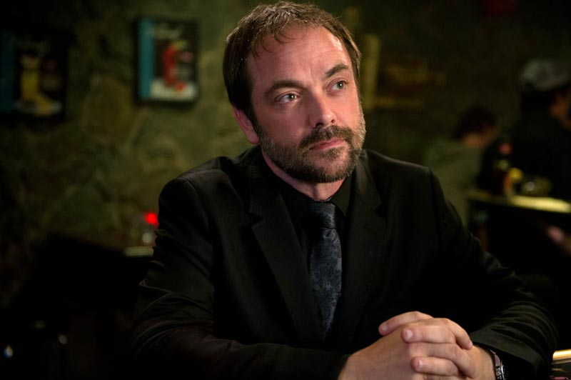"""Supernatural -- """"Reichenbach"""" -- Image SN1003a_0076 -- Pictured: Mark Sheppard as Crowley -- Credit: Diyah Pera/The CW --  © 2014 The CW Network, LLC. All Rights Reserved"""