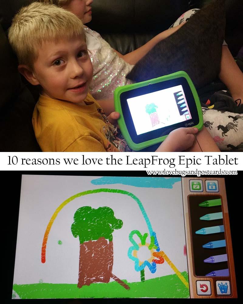 10 reasons we love the LeapFrog Epic Tablet #leapfrogepic #leapfrogmom