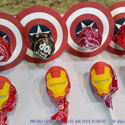 Marvel's Captain America: Civil War Printable Shields and Masks for Suckers