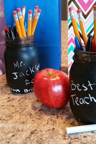 DIY Chalkboard Mason Jars Teacher Gift