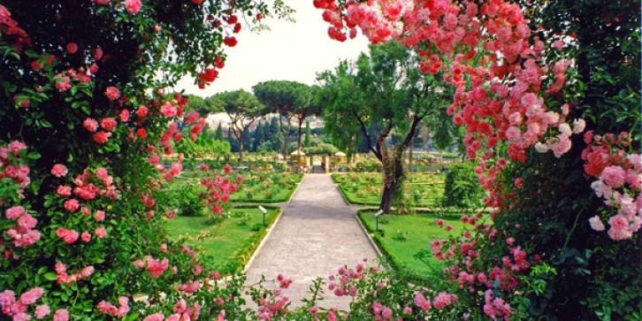 Il roseto comunale di Roma (Foto da Campidoglio)
