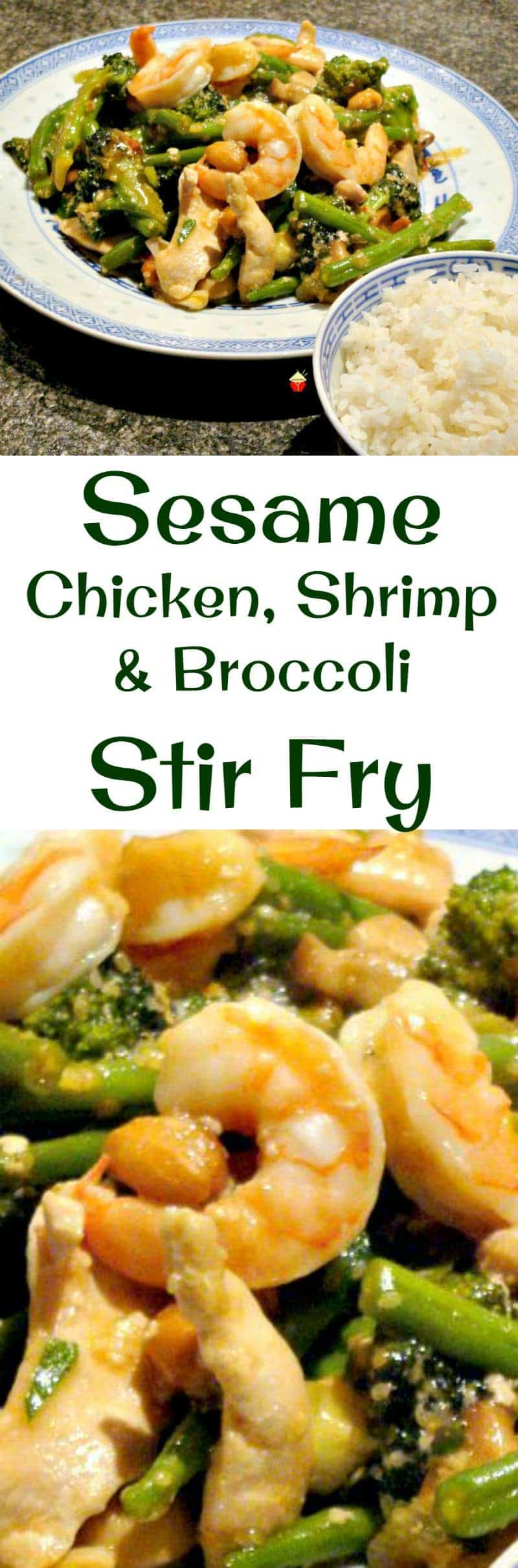 Sesame Chicken, Shrimp and Broccoli Stir Fry is a really quick and ...