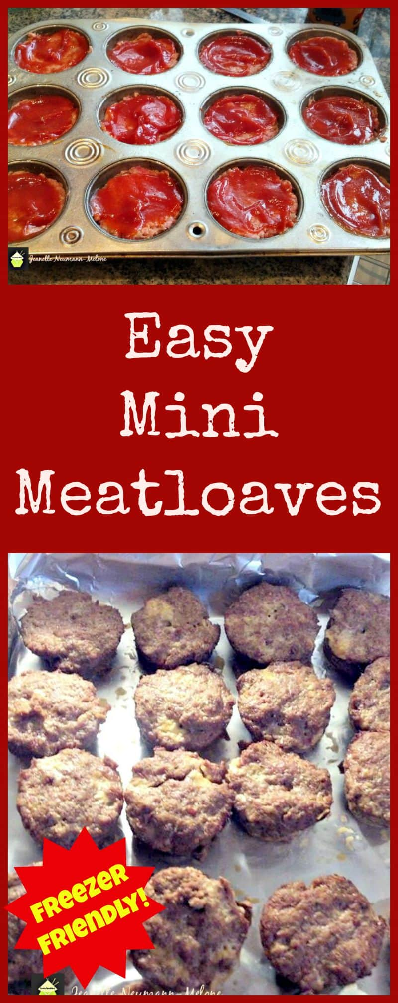 Easy Mini Meatloaves - A great recipe and always popular with busy ...