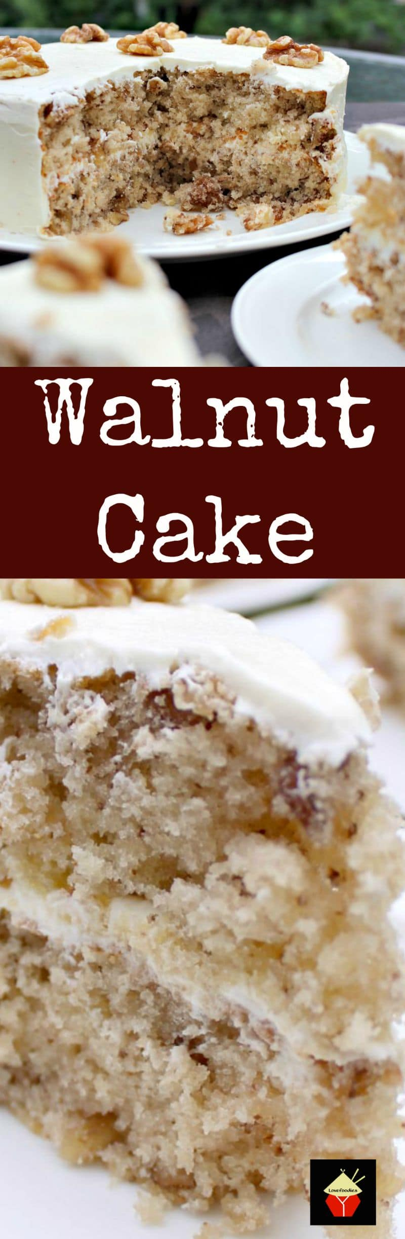 Walnut Cake is a delicious easy recipe. the cake is so soft and fluffy ...
