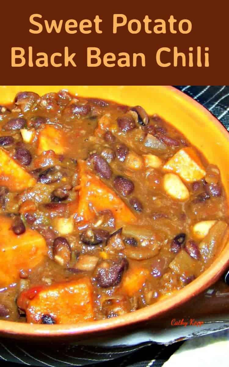 Black Bean And Sweet Potato Chili Recipe — Dishmaps