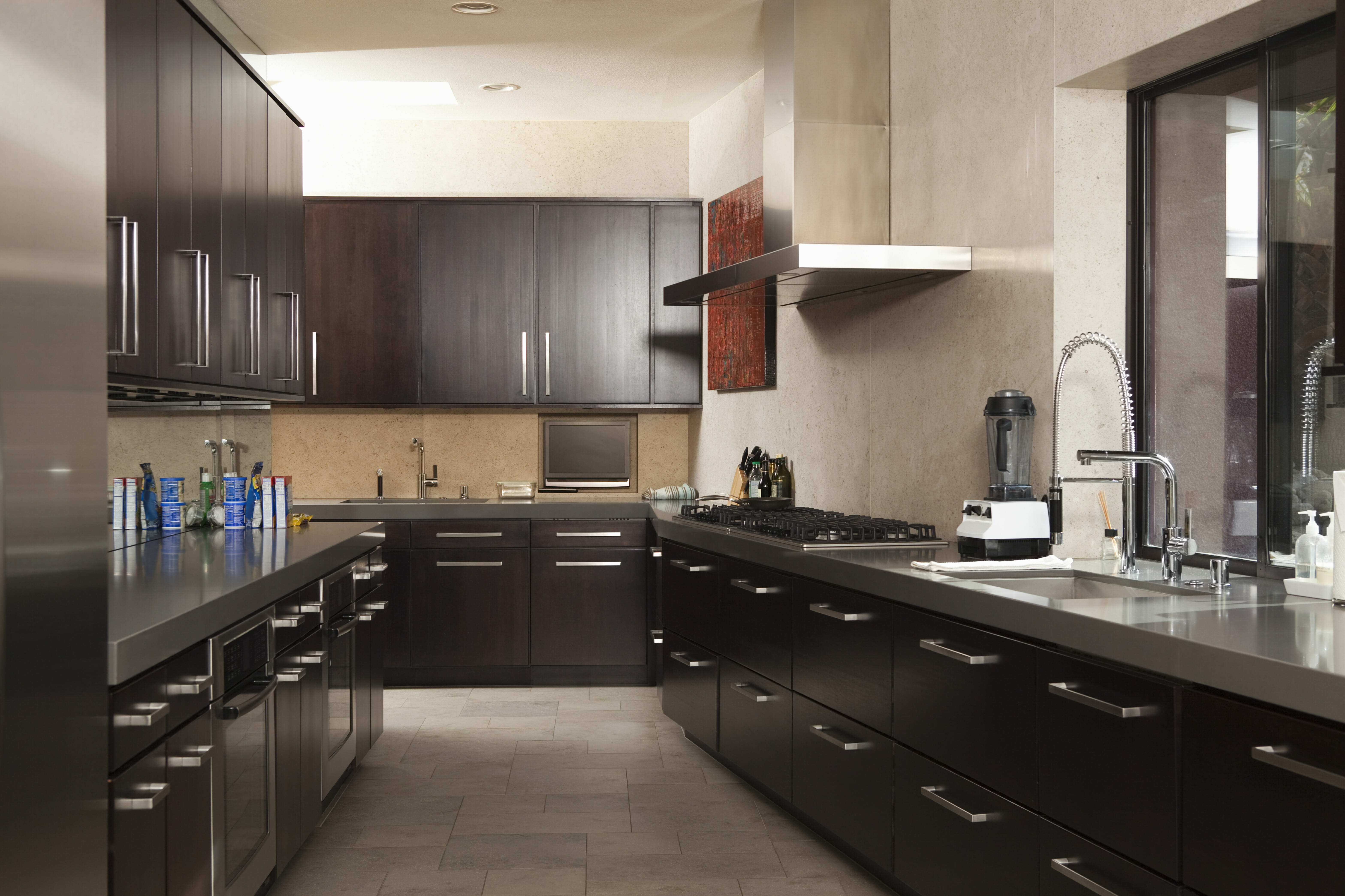 46 gorgeous kitchens with dark cabinets pictures pictures of kitchen cabinets Semi matte cabinets like these provide some light reflection but a lighter floor