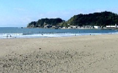 一日目昼由比ヶ浜